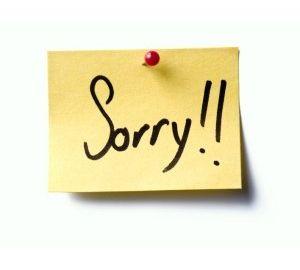 Ezik miyim ki özür dileyeyim!