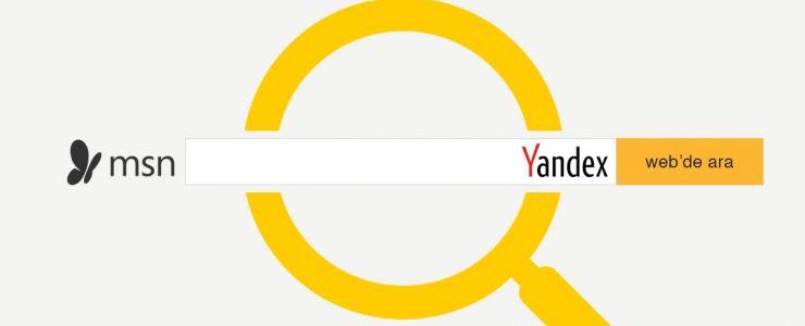 Yandex, MSN.com'un arama motoru oldu