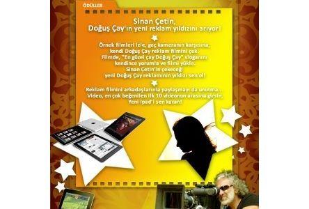Doğuş Çay yeni reklam yıldızını Sinan Çetin ile seçiyor