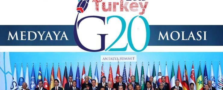 Medyaya G-20 molası