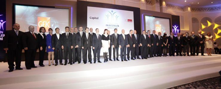 Türkiye'nin en beğenilen şirketleri ödülleri ile buluştu