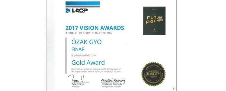 ÖZAK GYO'ya Amerikan İletişim Profesyonelleri Ligi'nden ikinci ödül