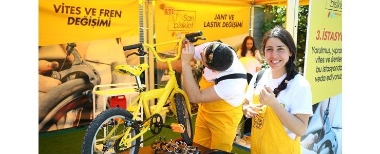 Eti Sarı Bisiklet ile bisiklet tamir şenliği