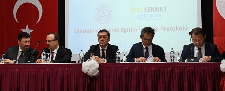 Milli Eğitim Bakanlığı, Oyak Renault ve PERYÖN'den eğitimde büyük iş birliği