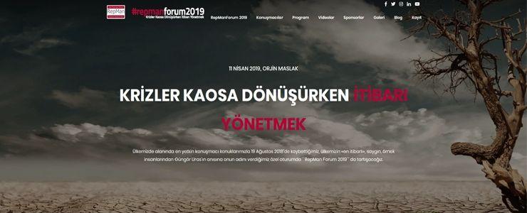 """RepMan Forum 2019'da """"Krizler Kaosa Dönüşürken İtibarı Yönetmek"""" tartışılacak"""