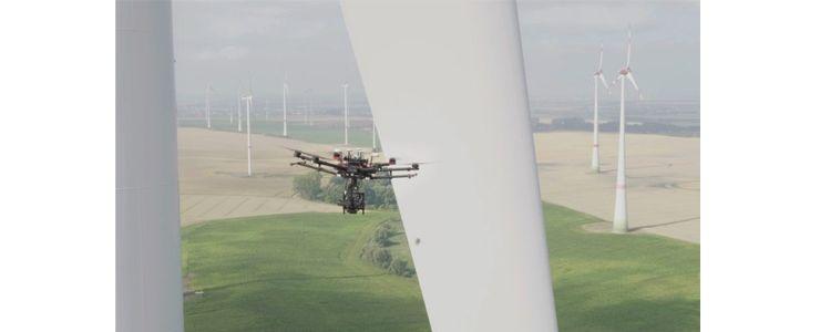 Rüzgar türbinlerinin kanat bakımları insansız hava araçlarına emanet