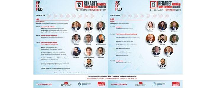 SEDEFED 12. Rekabet Kongresi, 24-25 Kasım tarihlerinde çevirim içi gerçekleşecek
